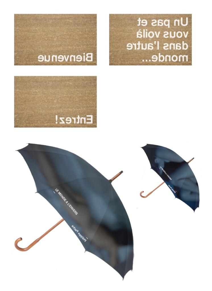 Paillassons et parapluies